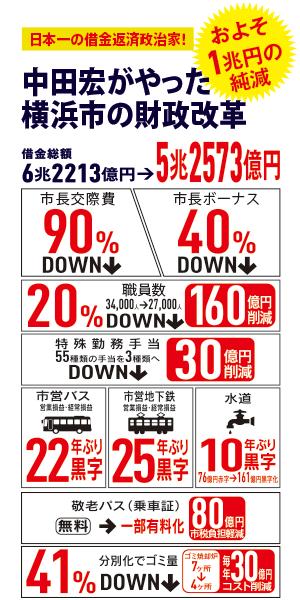 中田宏がやった横浜市の財政改革